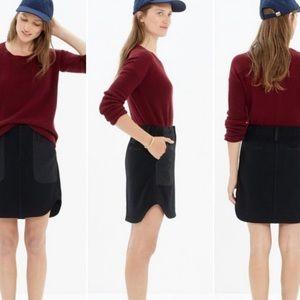 Madewell black felt skirt with pockets